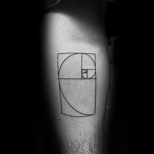 Inner Forearm Fibonacci Spiral Small Simple Tattoo On Gentleman
