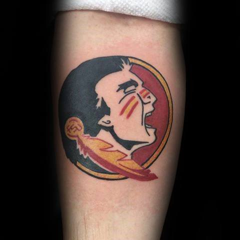 Inner Forearm Football Logo Fsu Tattoo Designs For Guys