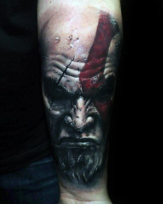 Inner Forearm Gamer Tattoo Ideas For Males