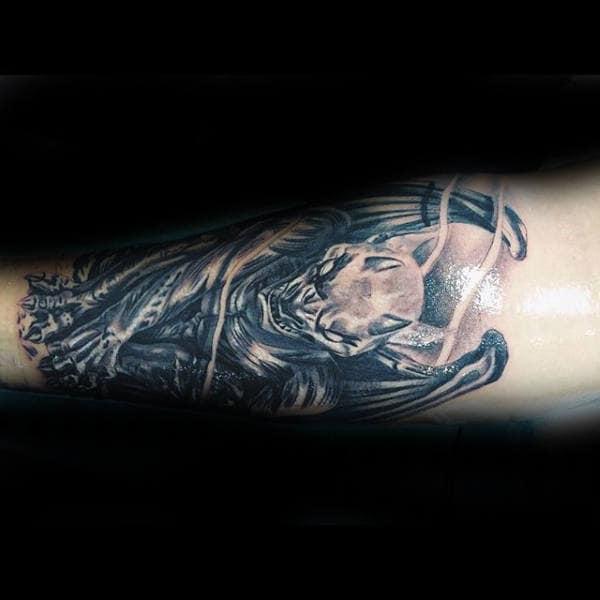 Inner Forearm Gargoyle Tattoo On Guy