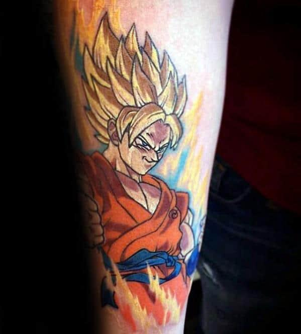 Inner Forearm Guys Anime Tattoos
