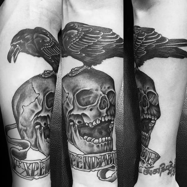 Inner Forearm Guys Expendables Tattoo Designs