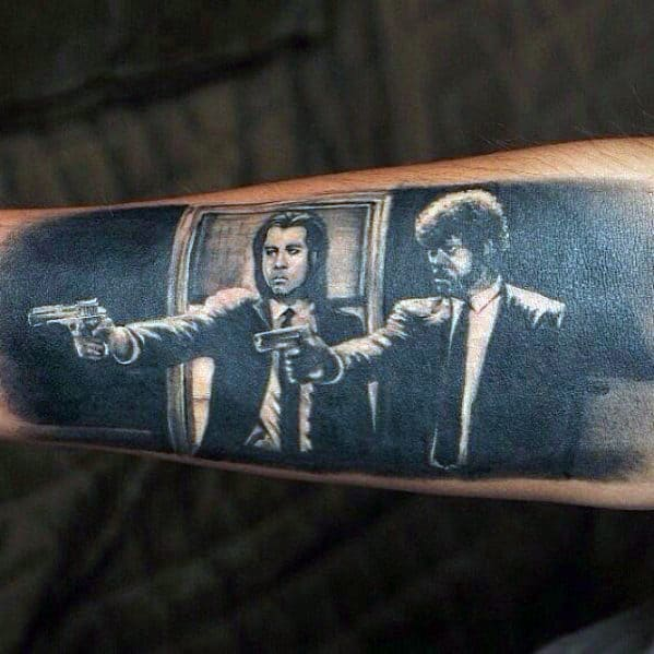 Inner Forearm Guys Pulp Fiction Realistic 3d Tattoos