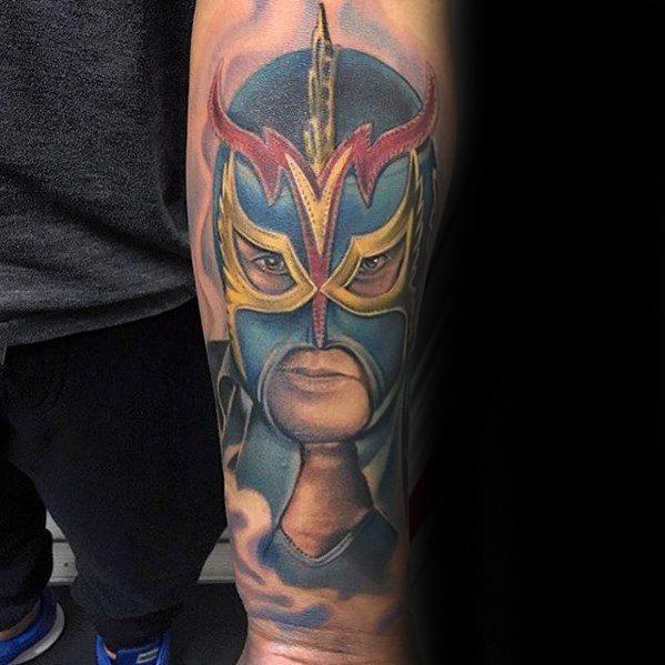 Inner Forearm Guys Wrestling Tattoos
