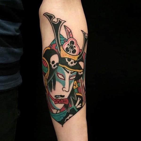 Inner Forearm Japanse Kite Mens Tattoo Ideas