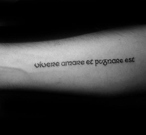 Inner Forearm Latin Guys Tattoo Designs