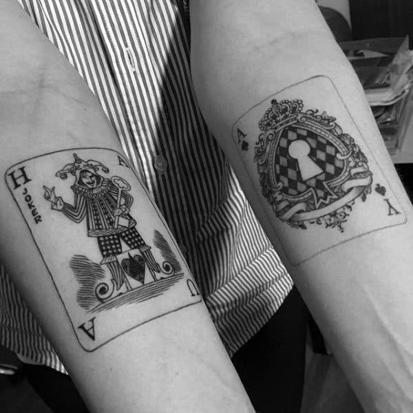 Inner Forearm Male Playing Card Tattoo Ideas