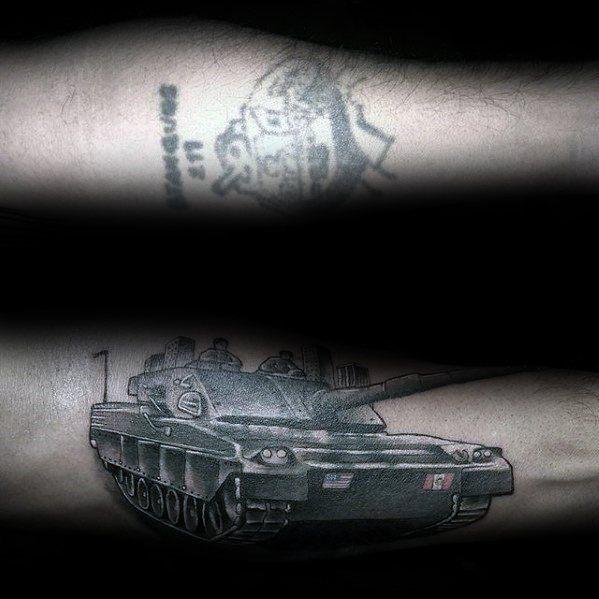 Inner Forearm Mens Tank Cover Up Tattoos