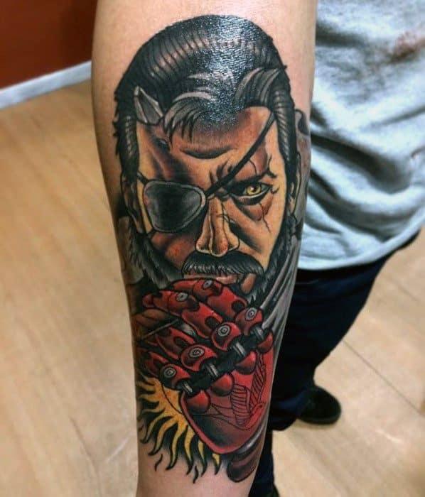 Inner Forearm Metal Gear Guys Tattoos