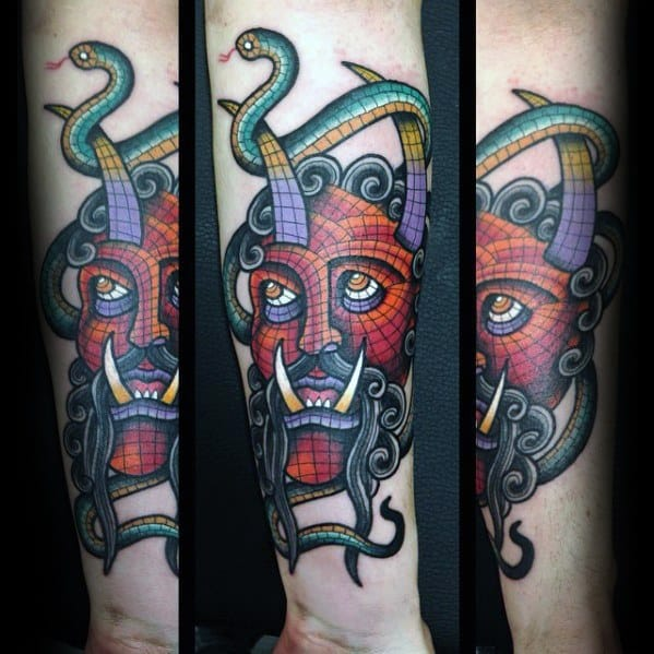 Inner Forearm Mosaic Guys Tattoos
