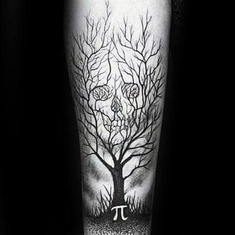 40 Skull Tree Tattoo Designs For Men Cool Ink Ideas