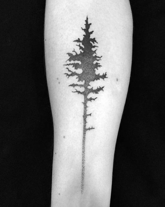 60 small tree tattoos for men masculine design ideas for Tree tattoo on forearm