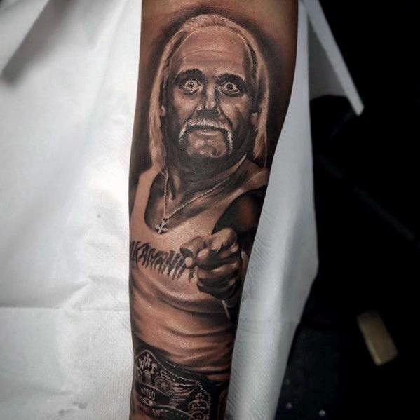 Inner Forearm Sleeve Wrestling Tattoos For Gentlemen