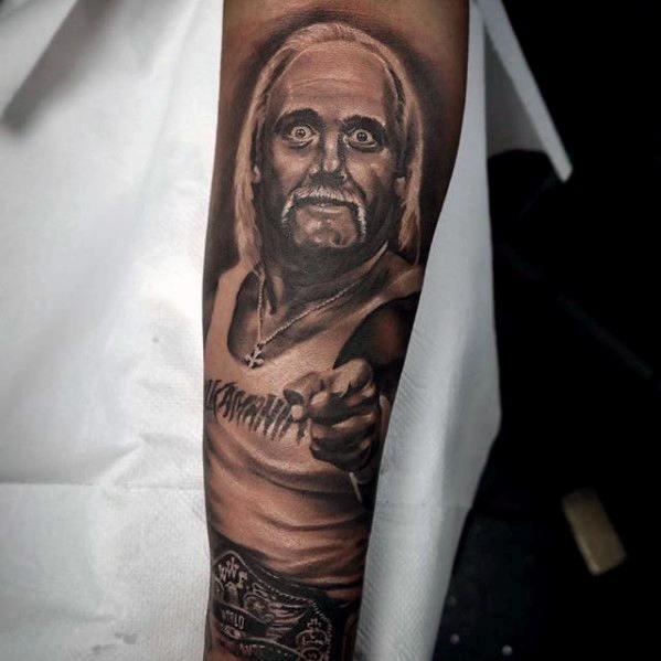 Inner Forearm Sleeve Wrestling Tattoos For Gentlemen