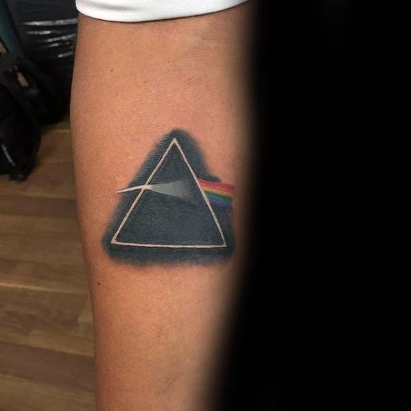 Inner Forearm Small Creative Dark Side Of The Moon Pink Floyd Tattoos For Men