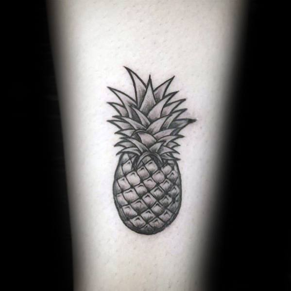 Inner Forearm Small Distinctive Male Pineapple Tattoo Designs