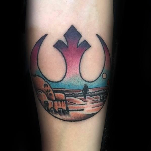 Inner Forearm Small Male Rebel Alliance Tattoo Designs