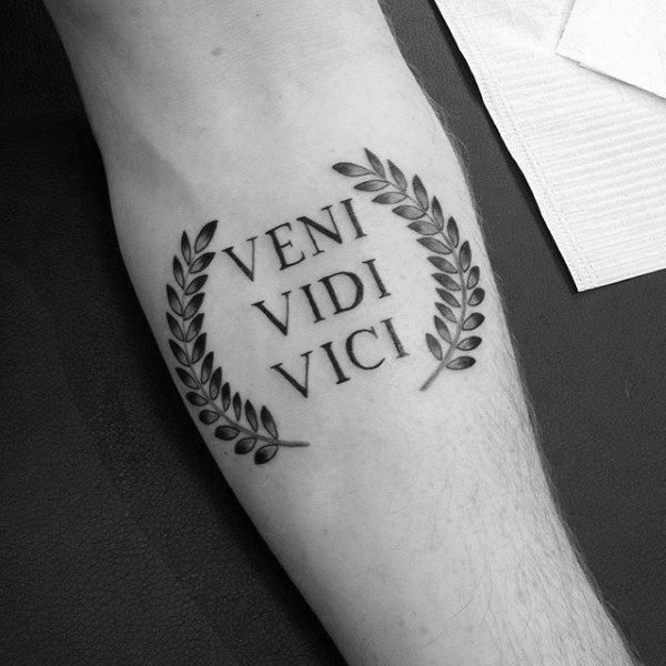 60 Veni Vidi Vici Tattoo Designs For Men - Julius Caesar Ideas
