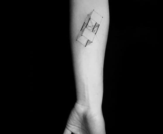 Inner Forearm Vintage Kite Tattoo Designs For Guys