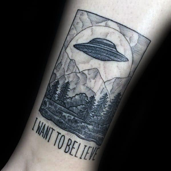 Inner Forearm X Files Poster Awesome I Want To Believe Tattoos For Men