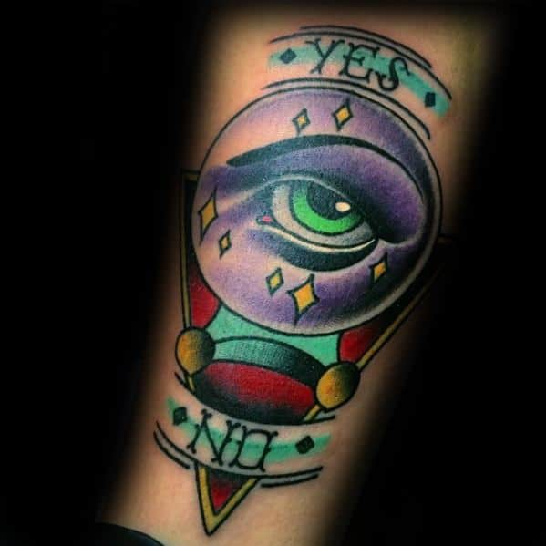 Inner Forearm Yes No Unique Mens Crystal Ball Tattoos