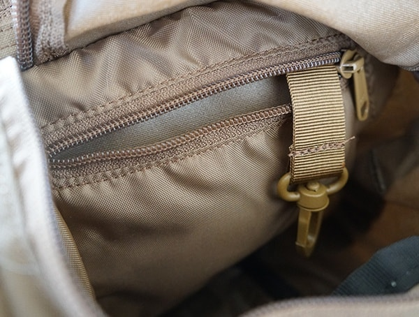 Inner Pocket With Key Clip Kelty Eagle Backpack Lid