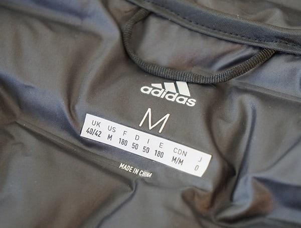 Inner Tag Adidas Lite Down Hoodie