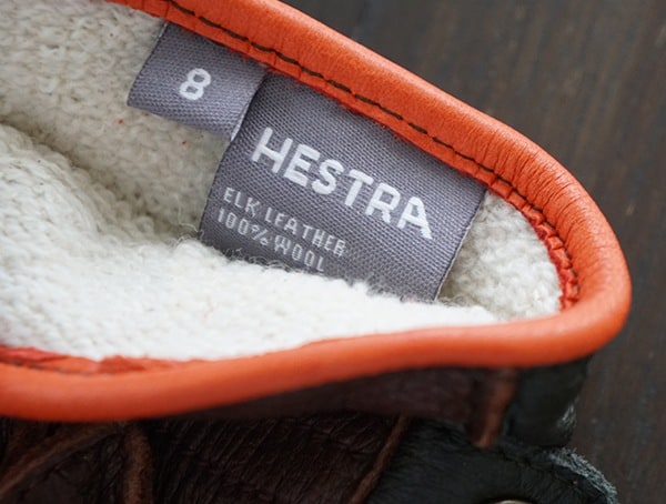 Inner Tag Hestra Granvik Mens Gloves With Wool Terry Interior Lining