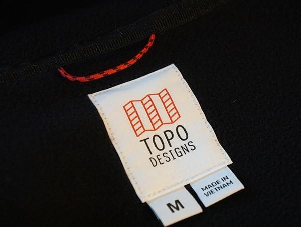 Inner Tag Topo Designs Fleece Hoodie