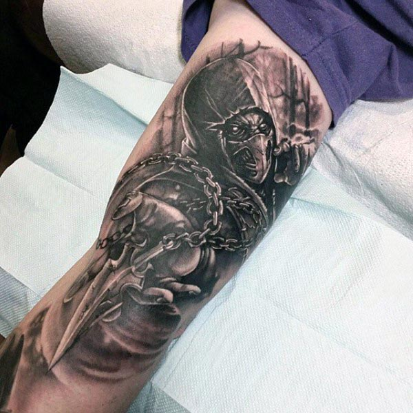Inside Of Bicep Tattoo For Men
