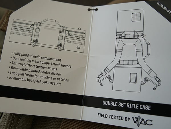Instructions 5 11 Tactical Vtac Mk 2 Rifle Cases