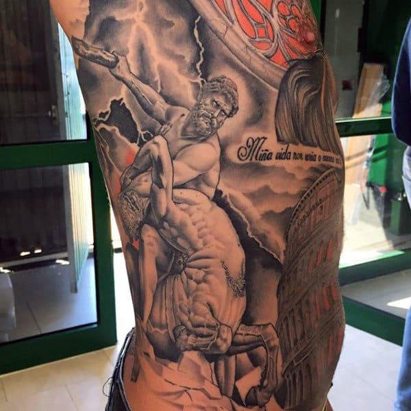 Interesting Greek God Tattoo Male Torso
