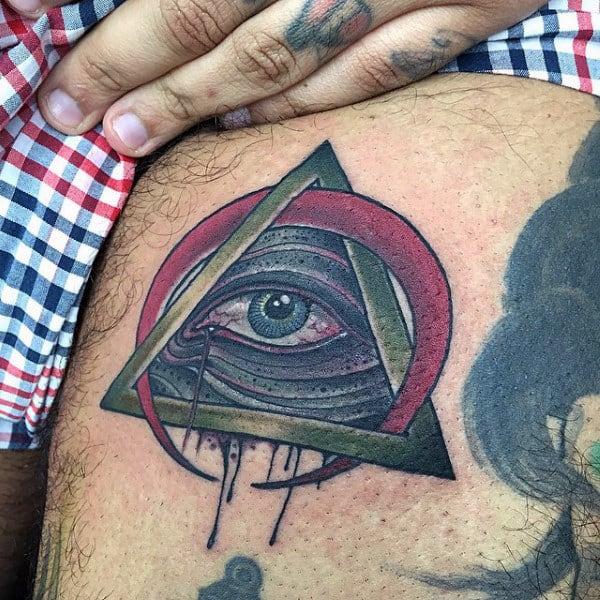 Interesting Eye Tattoo Male Shoulders