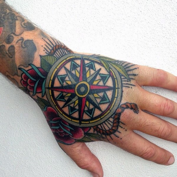 Interesting Tatto Of Mandala Male Hands