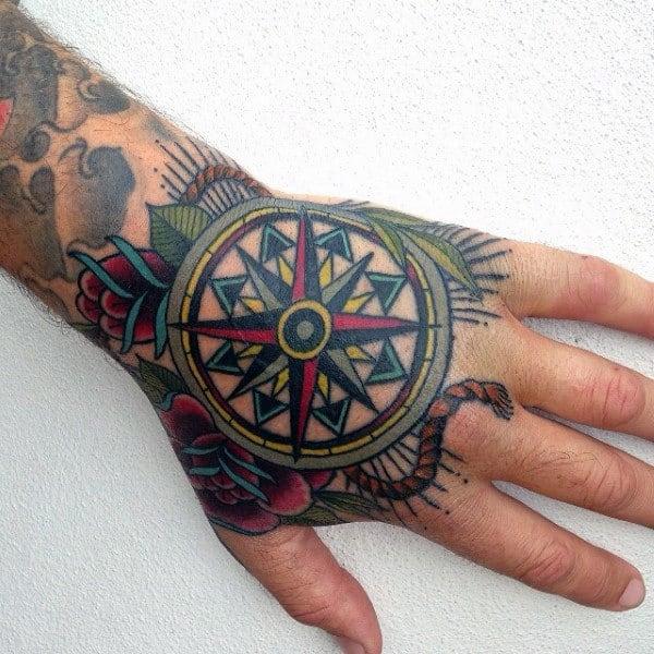 Interesting Tatto Of Mandala Male Hands