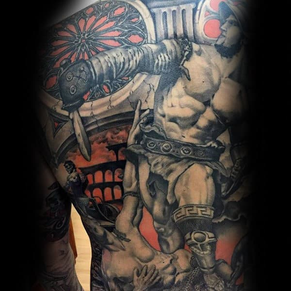 Interesting Tattoo Guys Full Back
