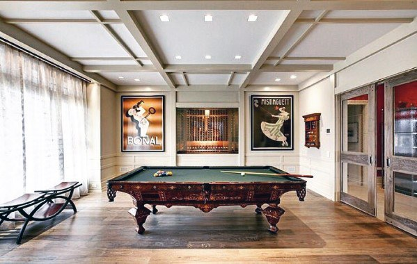 Interior Billiards Room