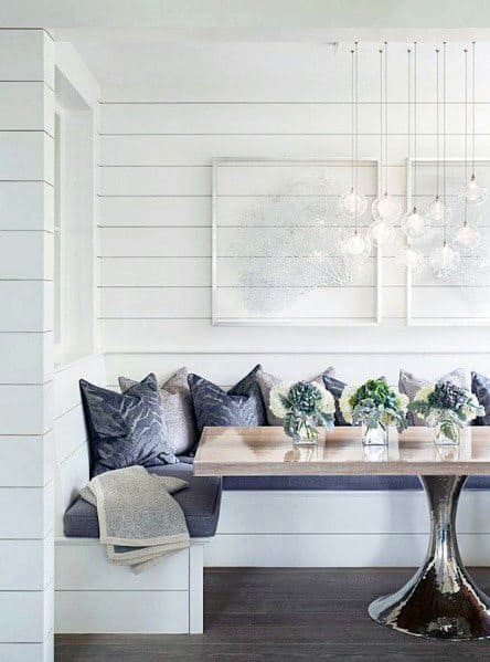 Interior Breakfast Nook Shiplap Wall Design