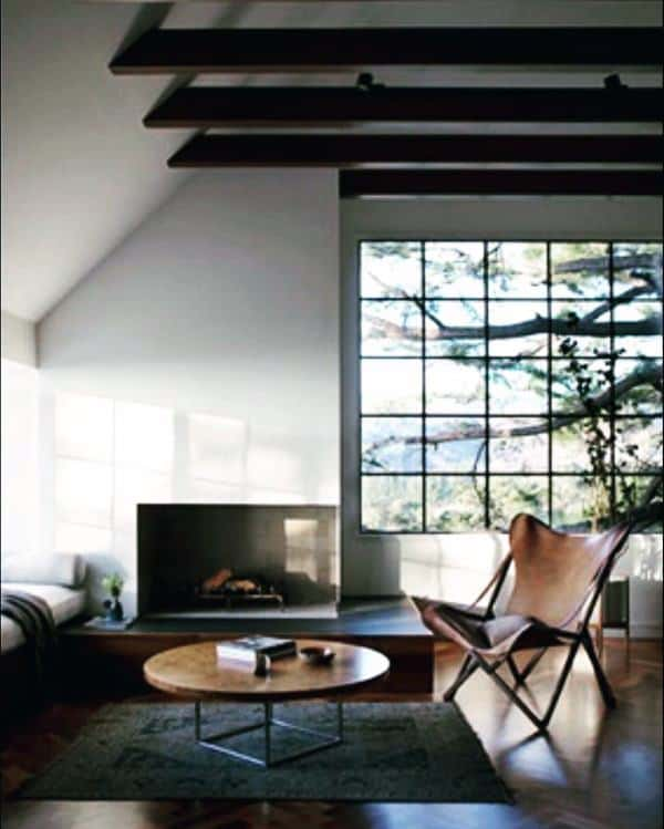 Interior Corner Fireplace Design