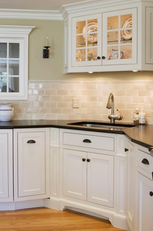 Interior Custom Corner Kitchen Cabinet