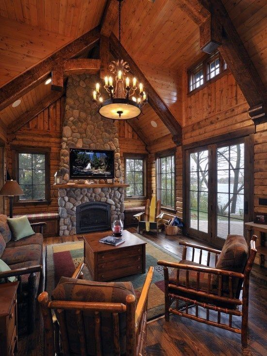 Charming Interior Design Ideas Log Cabins