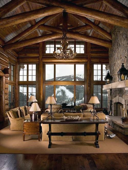 Top Best Log Cabin Interior Design Ideas Mountain