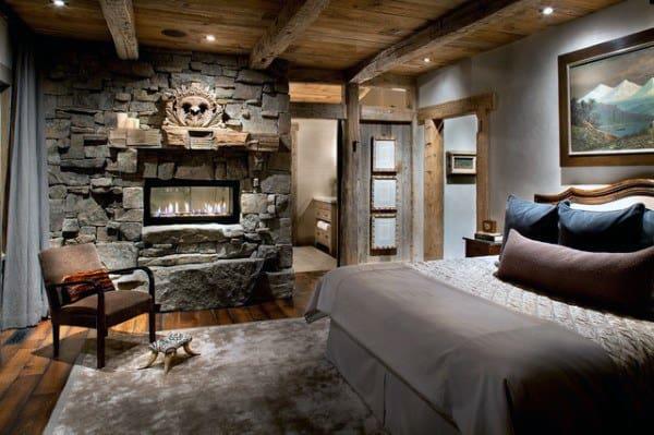 Design d'Intérieur Rustique, les Chambres