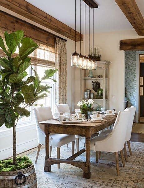 Interior Design Rustic Dining Rooms