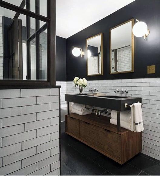 Interior Designs Black Bathrooms