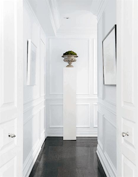 Interior Designs Chair Rail Hallway