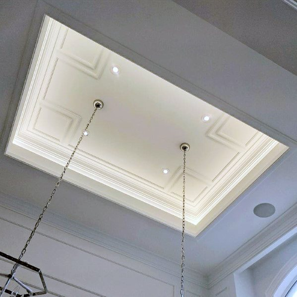 buy popular 735f9 3451a Top 40 Best Crown Molding Lighting Ideas - Modern Interior ...