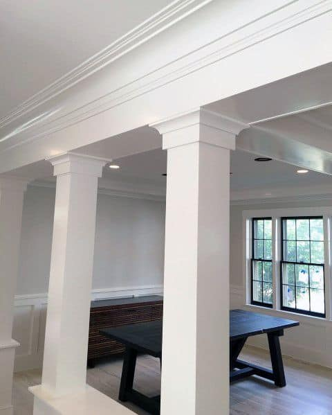 Interior Designs Crown Molding Support Column Beams
