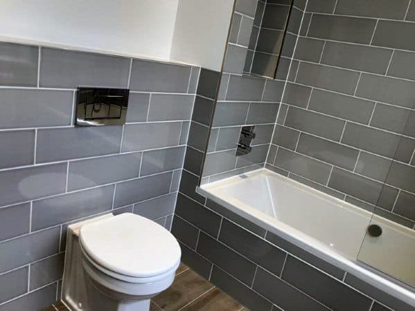 Interior Designs Grey Bathroom Tile