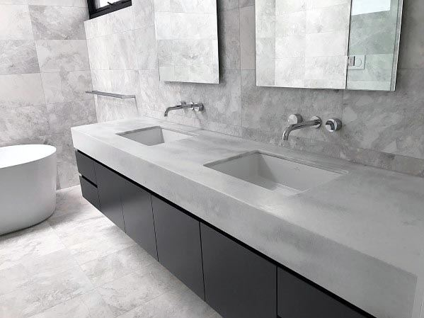 Interior Designs Grey Bathrooms
